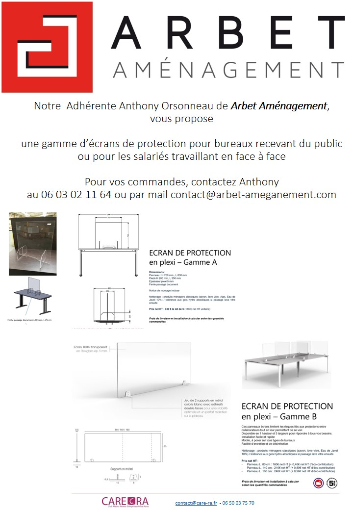 ARBET AMENAGEMENT : ECRAN DE PROTECTION
